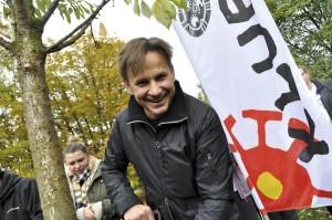 Bartek Topa ambasador Święta Drzewa. Fot. Klub Gaja.