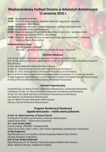 Program Festiwal Derenia